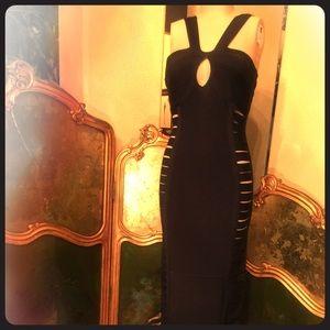 Dresses & Skirts - Floor length black bandage dress with slits